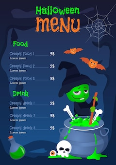 Estilo de modelo de menu de halloween