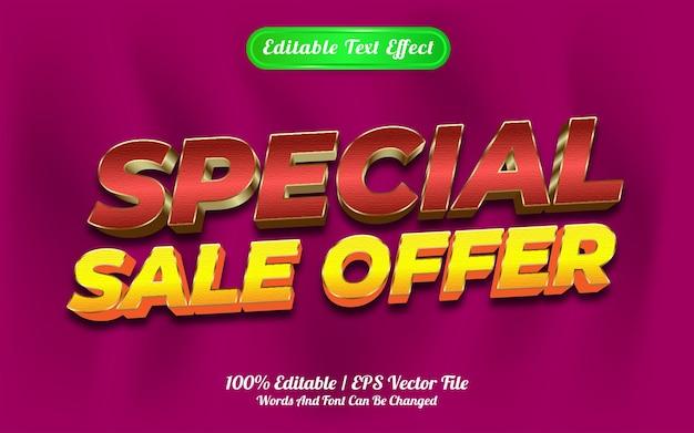 Estilo de modelo de oferta de venda especial de efeito de texto editável