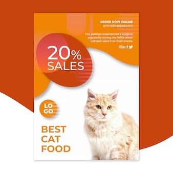 Estilo de modelo de panfleto de comida animal