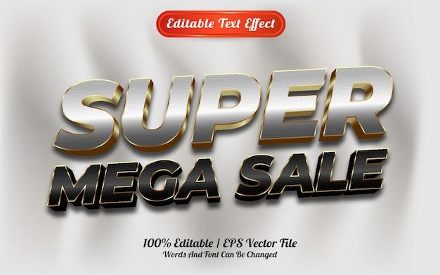 Estilo de modelo de super mega venda com efeito de texto editável