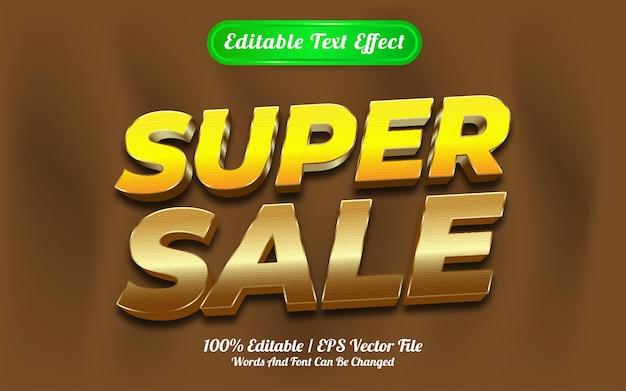 Estilo de modelo de super venda com efeito de texto editável