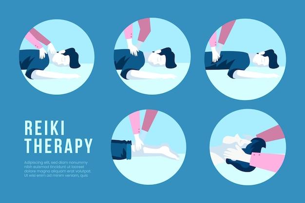 Estilo de modelo de terapia de reiki