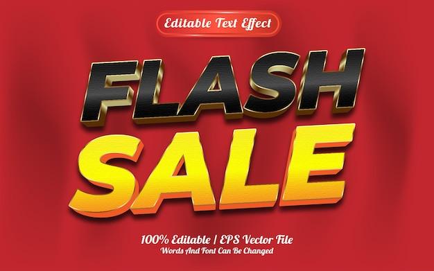 Estilo de modelo de venda em flash de efeito de texto editável