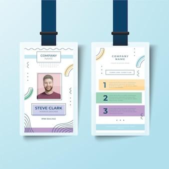 Estilo de modelo minimalista de cartões de identificação