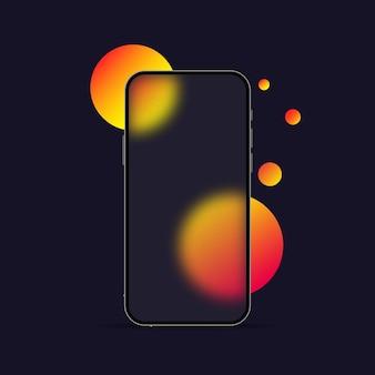 Estilo de morfismo de vidro. modelo de telefone inteligente. efeito de morfismo de vidro realista com conjunto de placas de vidro transparente.