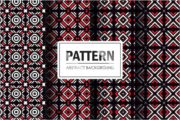 Estilo de mosaico de coleção de padrão abstrato