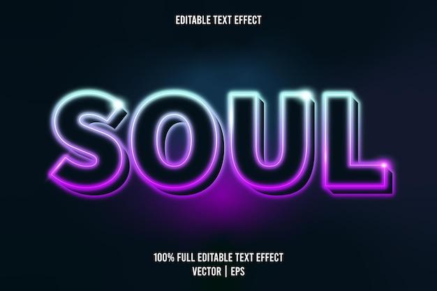 Estilo de néon com efeito de texto editável soul