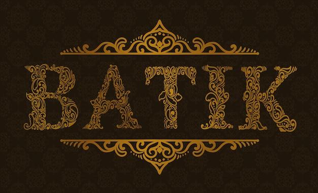 Estilo de ornamento de caligrafia batik indonésia