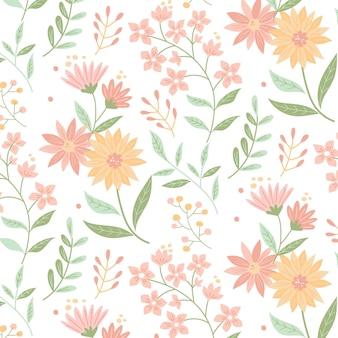 Estilo de pacote padrão floral
