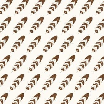Estilo de padrão sem costura de decoração de penas