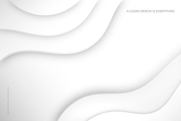 Estilo de papel 3d abstrato branco