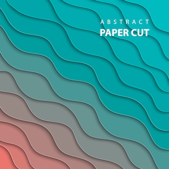 Estilo de papel 3d abstrato, layout de design