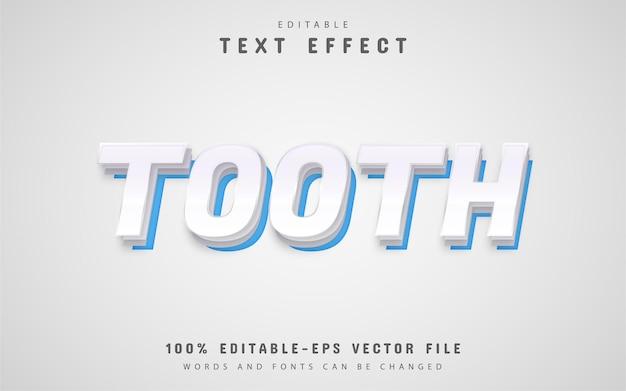 Estilo de papel de efeito de texto de dente