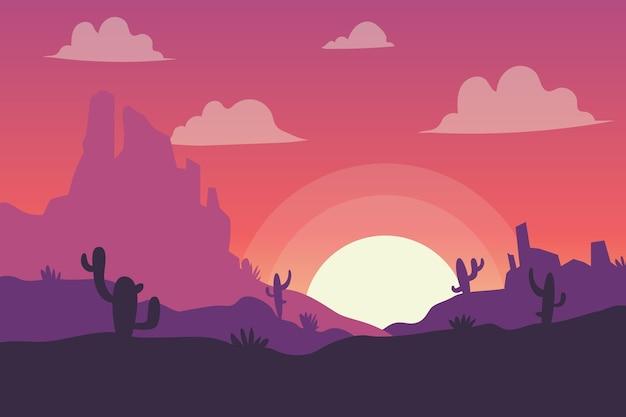Estilo de papel de parede da paisagem do deserto