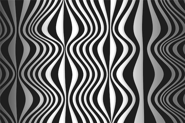 Estilo de papel de parede psicodélico de ilusão de ótica