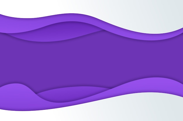 Estilo de papel gradiente ondulado fundo roxo
