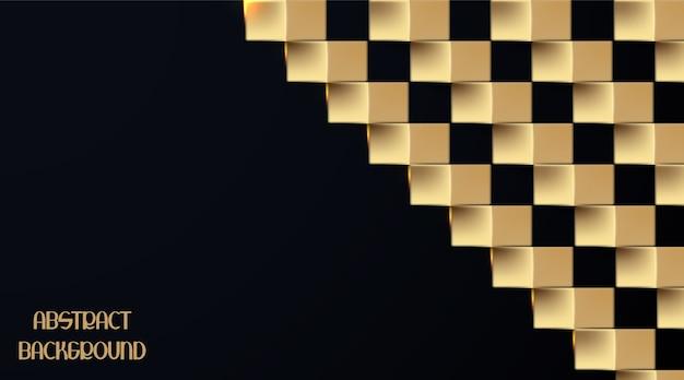 Estilo de papel ouro 3d em fundo escuro