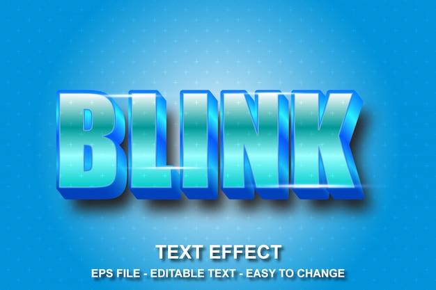 Estilo de piscadela de efeito de texto azul