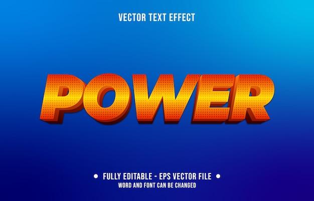 Estilo de poder do gradiente vermelho e laranja do efeito de texto editável