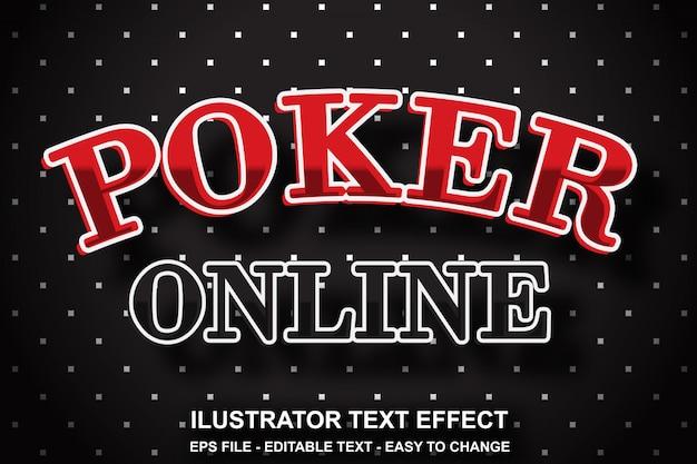 Estilo de poker com efeitos de texto editável