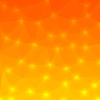 Estilo de polígono de fundo laranja
