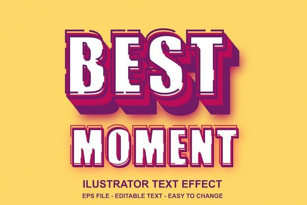 Estilo de pop art de efeito de texto editável