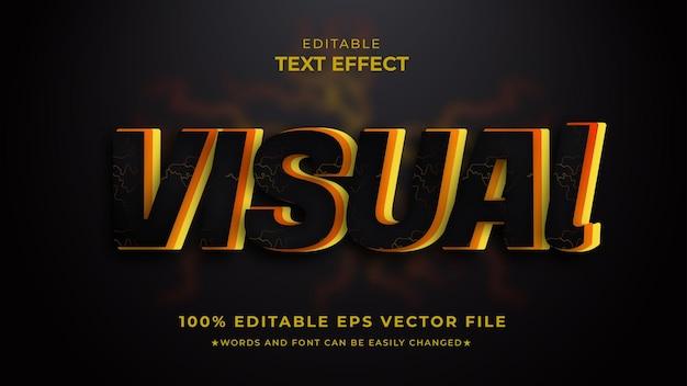 Estilo de preto editável com efeito de texto visual moderno