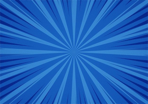 Estilo de quadrinhos azul abstrato dos desenhos animados. luz solar.