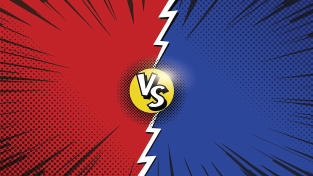 Estilo de quadrinhos battle versus background