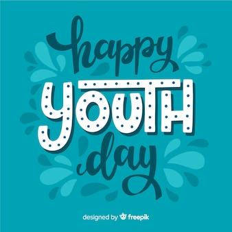 Estilo de rotulação de fundo do dia da juventude