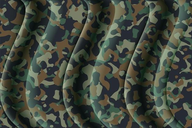 Estilo de roupa clássico militar militar verde de textura de padrão de repetição de camuflagem