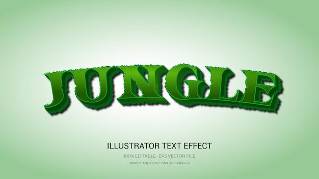 Estilo de selva de efeito de texto editável