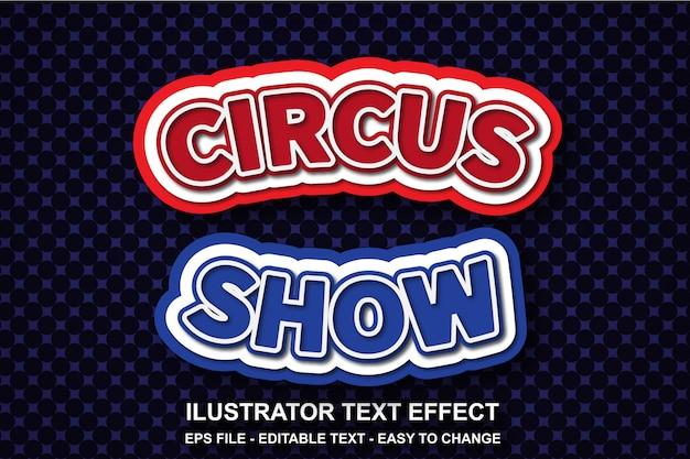 Estilo de show de circo de efeito de texto editável
