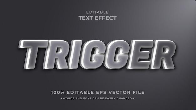 Estilo de sombra do efeito de texto acionador editável
