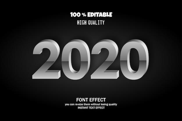 Estilo de texto 2020, efeito de fonte editável