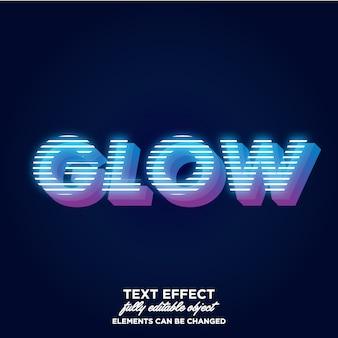 Estilo de texto 3d com tema de luz elétrica