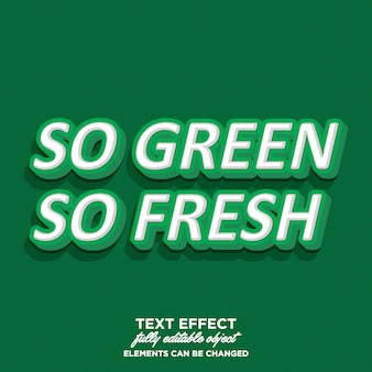 Estilo de texto 3d com tema verde