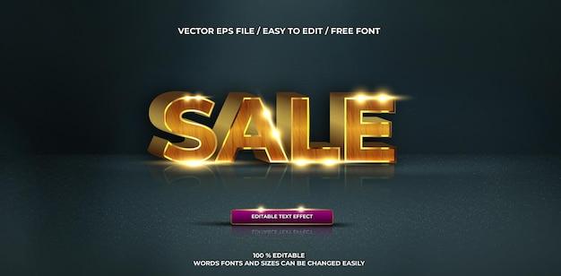 Estilo de texto 3d de venda de efeito de texto editável de luxo