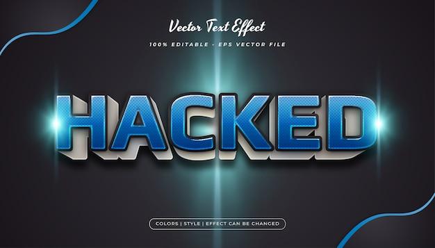 Estilo de texto 3d em negrito azul com textura de meio-tom e efeito em relevo