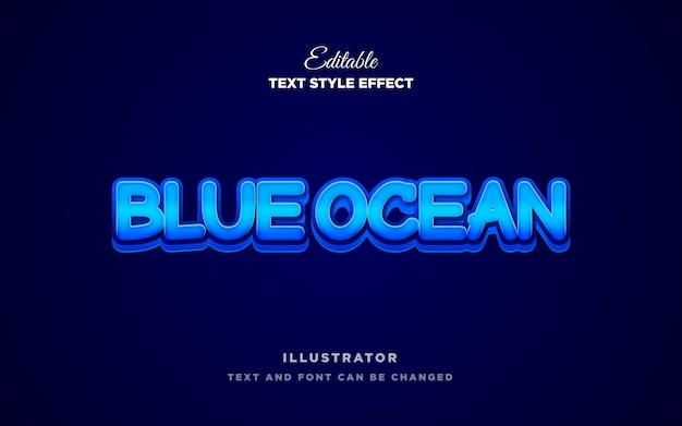 Estilo de texto azul 3d moderno