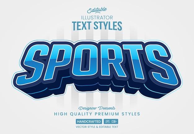 Estilo de texto blue sports