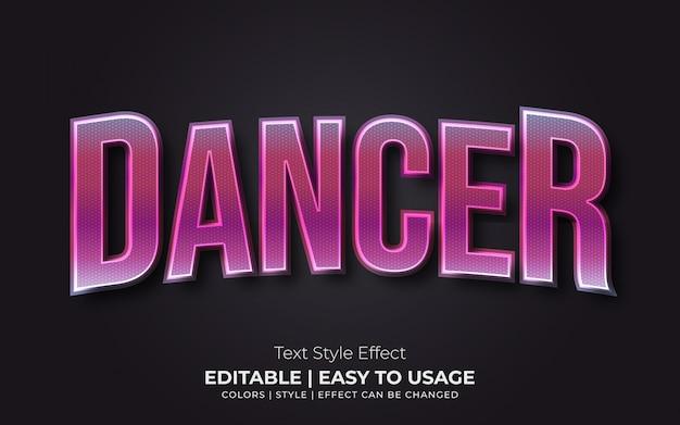 Estilo de texto brilhante com gradiente colorido e efeito realista