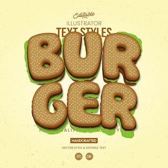 Estilo de texto burger