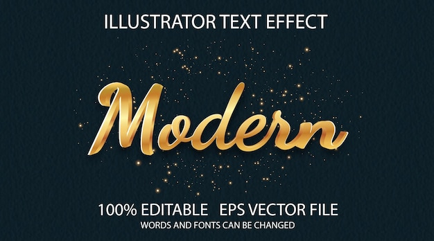 Estilo de texto clássico efeito dourado estilo de trabalho moderno