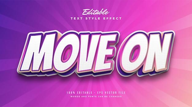 Estilo de texto colorido moderno com efeito gradiente vibrante. efeitos de estilo de texto editáveis