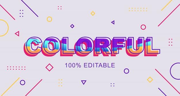 Estilo de texto colorido