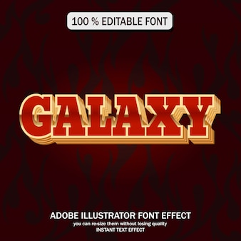 Estilo de texto da galáxia