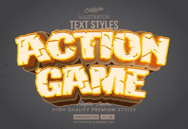 Estilo de texto de ação ao ar livre