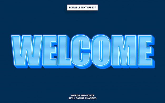 Estilo de texto de boas-vindas