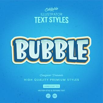 Estilo de texto de bolha